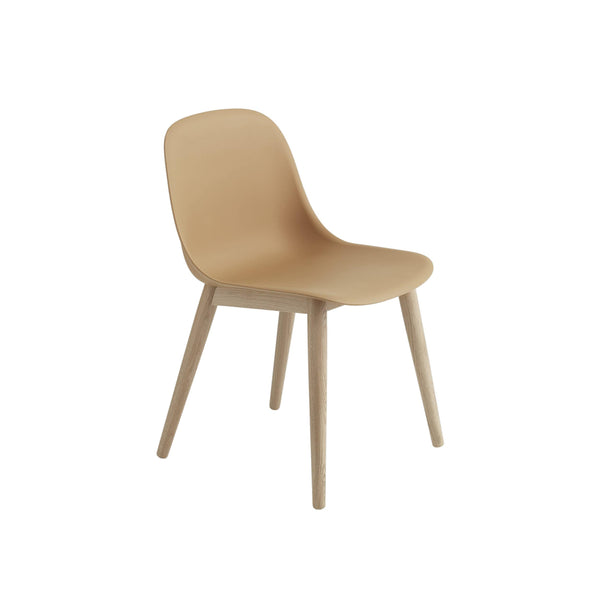 Muuto Fiber Side Chair Wood Base in ochre, available from someday designs