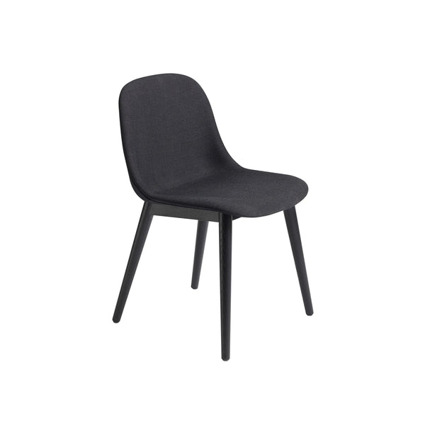 Muuto Fiber Side Chair Wood Base in remix 183 and black, available from someday designs