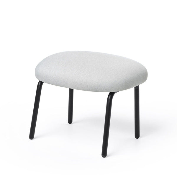 puik dost footstool in light grey with black steel legs. Shop online at someday designs