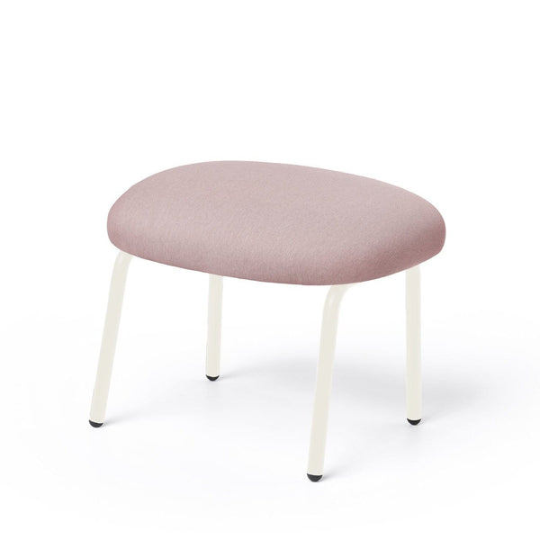 puik dost footstool in pink with white steel legs. Shop online at someday designs