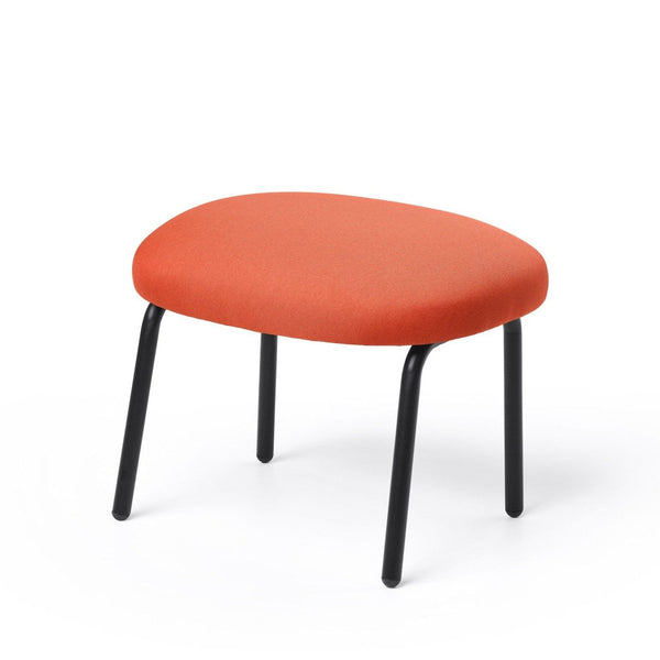 puik dost footstool in terracotta with black steel legs. Shop online at someday designs