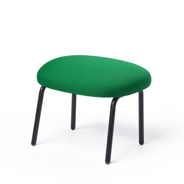 puik dost footstool in dark green with black steel legs. Shop online at someday designs