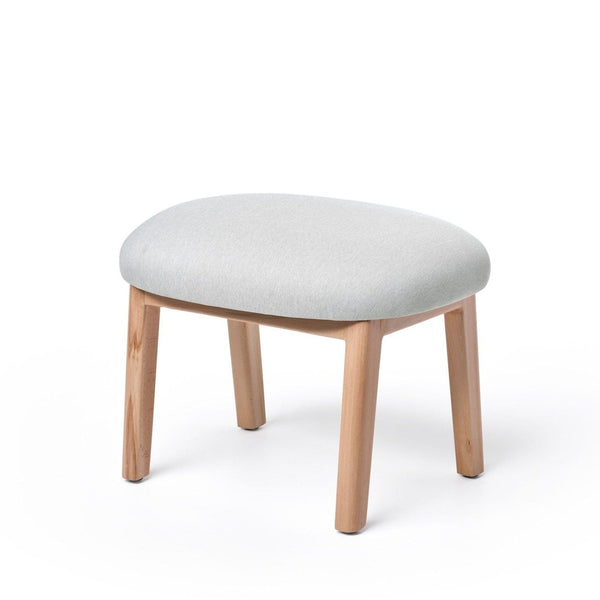 puik dost footstool in light grey with oak legs. Shop online at someday designs