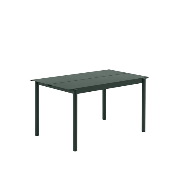 Muuto Linear Steel Table 140x75 in dark green, available from someday designs