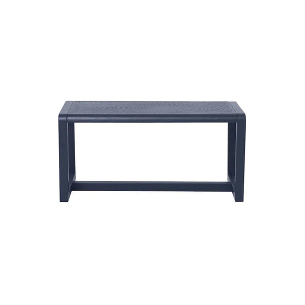 ferm living little architect bench in dark blue, available in someday designs