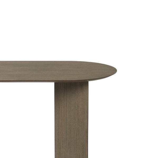ferm living mingle table top oval 150cm dark stained oak veneer, available from someday designs