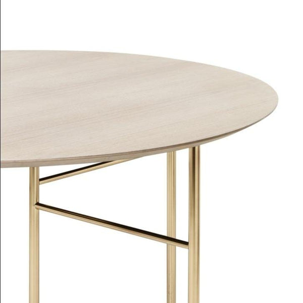 ferm living mingle table round 130cm natural oak veneer, available from someday designs