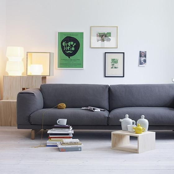 muuto cosy in white table lamp in living room with rest sofa available at someday designs