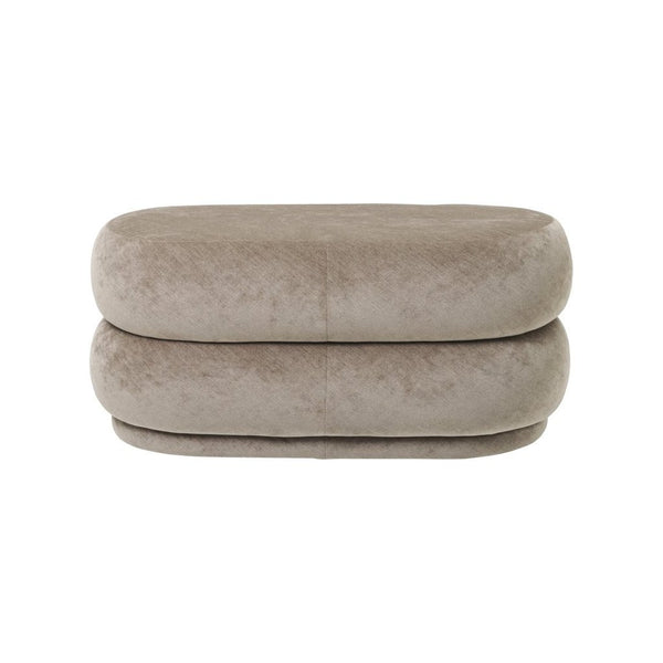 ferm living pouf faded velvet medium in beige 26. Available from someday designs