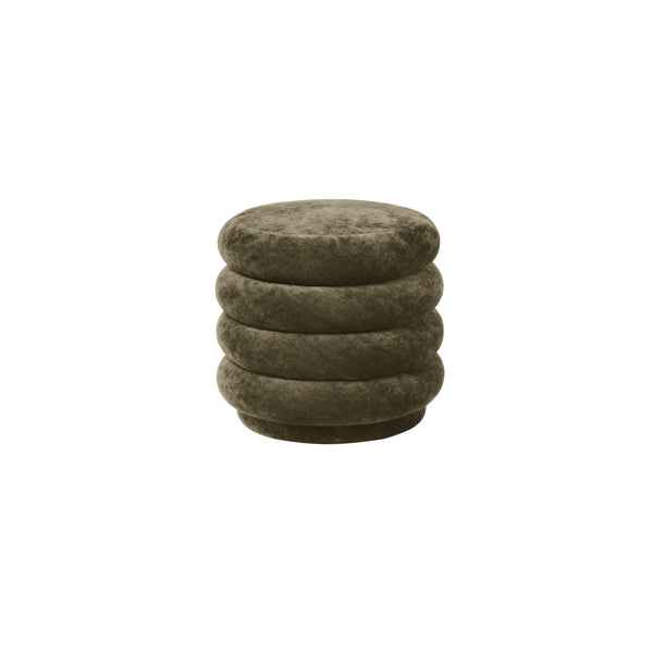 ferm living pouf faded velvet small in forest 3. Available from someday designs