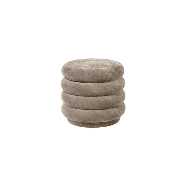 ferm living pouf faded velvet small in beige 26. Available from someday designs