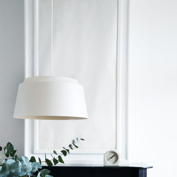 puik groove pendant large white, available from someday designs