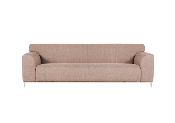 muna 3 seater in pure 04 nude pink