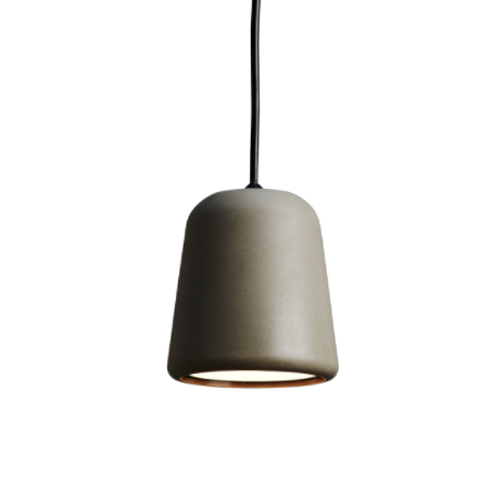 @somedaydesigns.co.uk | material pendant dark grey concrete