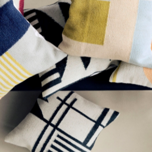 ferm living cushion bundle displaying kelim cushion