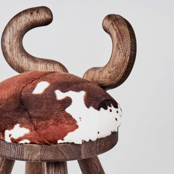Detail shot of Cow Chair by Elements Optimal