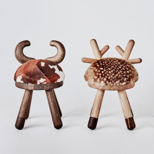 Cow Chair, Bambi Chair and Sheep Chair by Elements Optimal