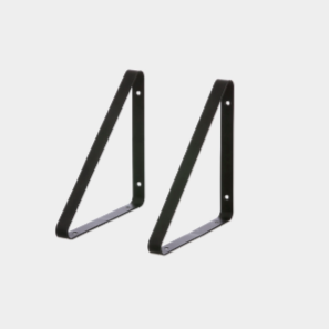 ferm living shelf hangers black, available from someday designs