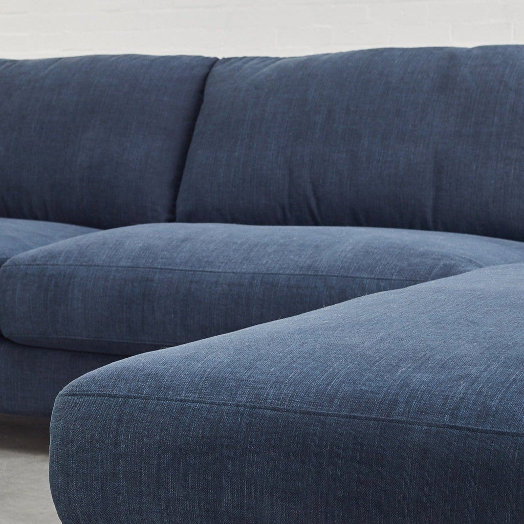 detail of toft corner cushions pure 01 navy