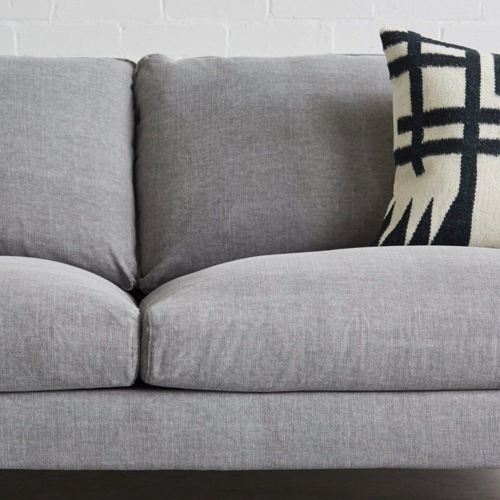 detail shot of jessen 3 seater in light grey