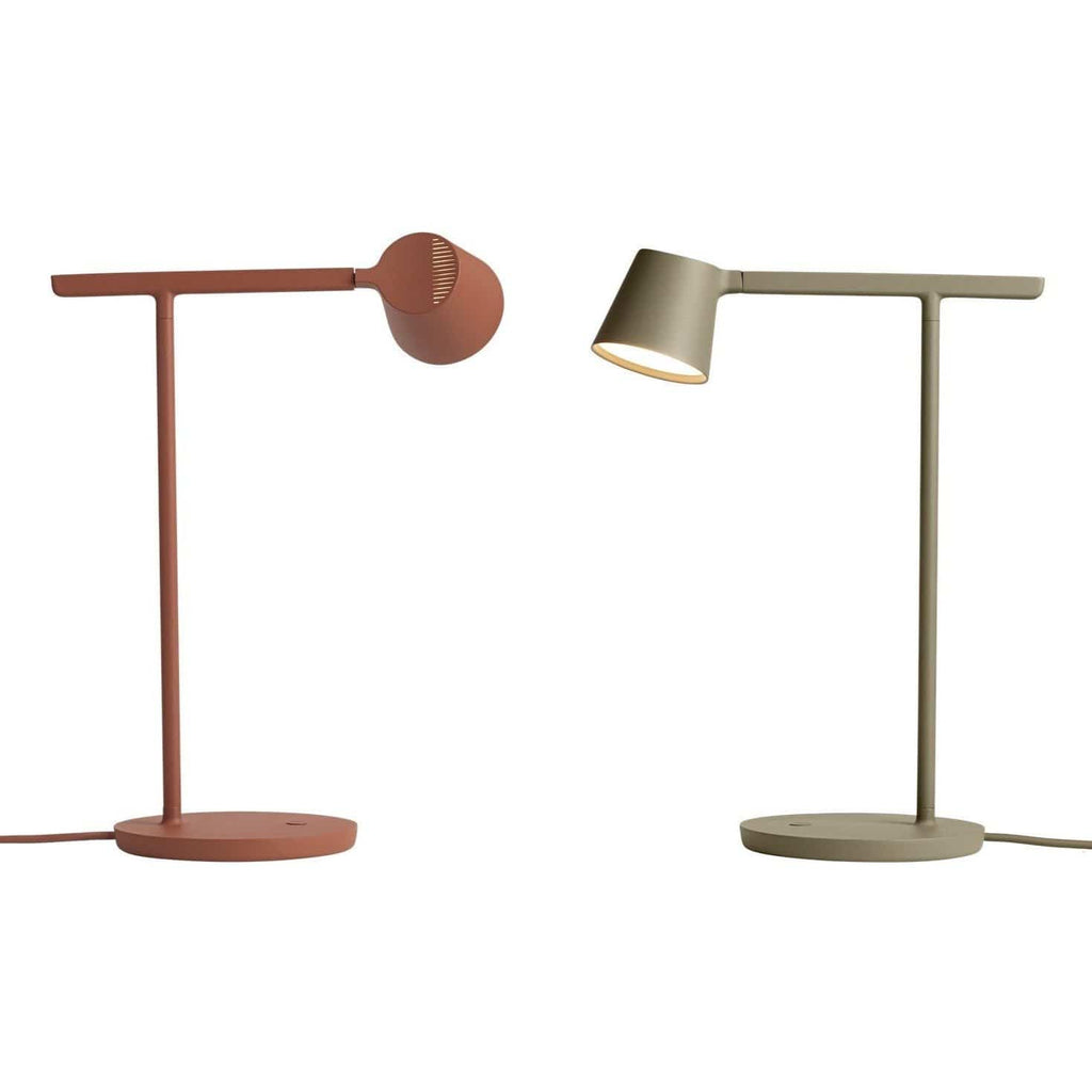 black, copper brown and olive tip lamp by Jens Fager for muuto