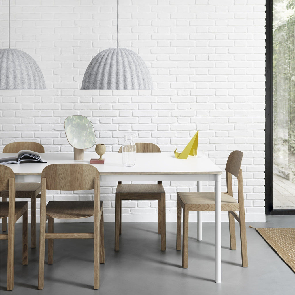 muuto under the bell pendant lamp white melange small available at someday designs