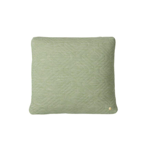 quilt cushion ferm living 45 x45 green, available from someday designs