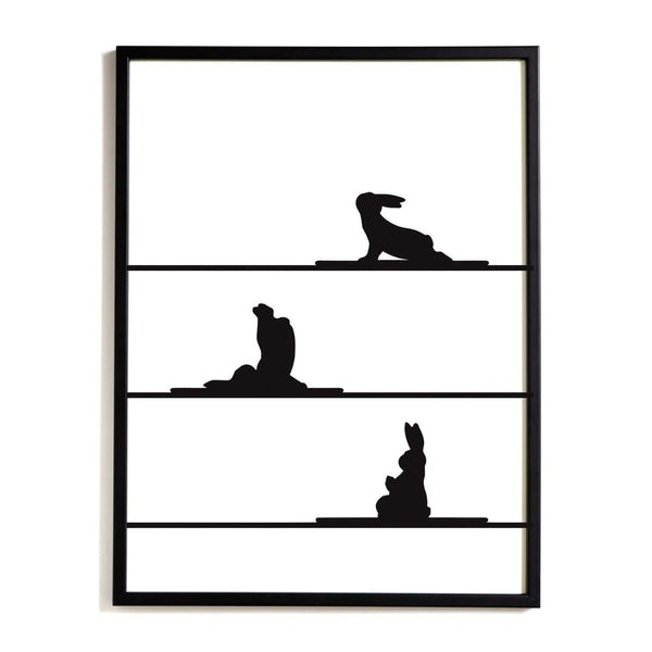 HAM Yoga Rabbit print from someday designs. Gift idea under £50 for yoga enthusiasts. Playful, minimalist artwork