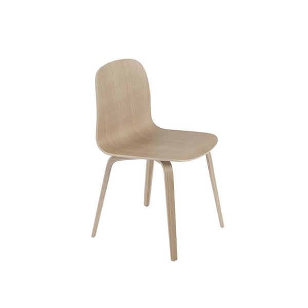 Muuto Visu chair wood base in oak. A modern dining chair available to buy from someday designs