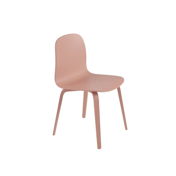 Muuto Visu chair wood base in tan rose. A modern dining chair available to buy from someday designs