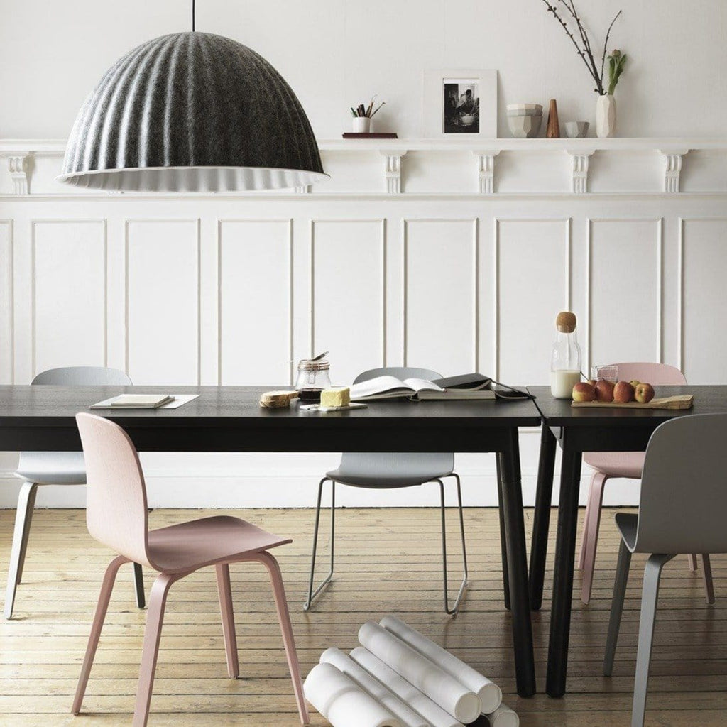 Muuto Visu Chair series in a dining room setting. Available from someday designs