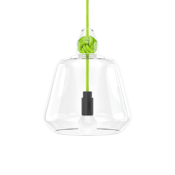 Vitamin Large Knot Pendant Lamp in green. Buy now from someday designs