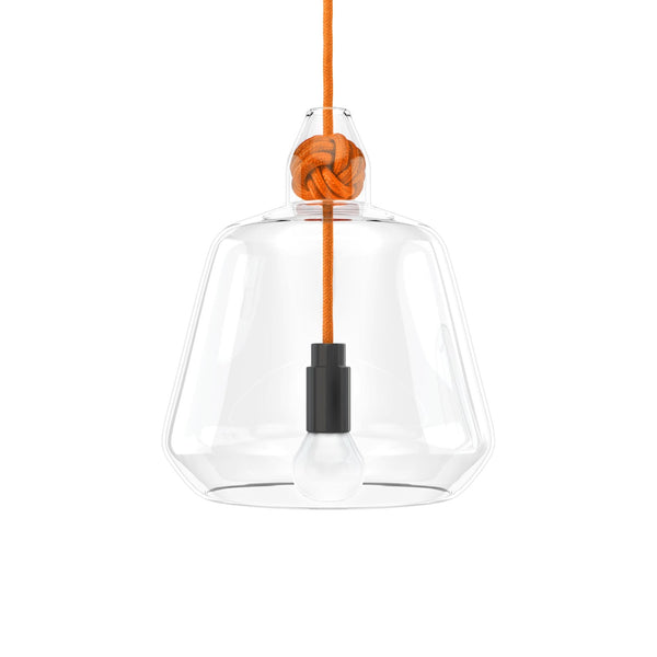 Vitamin Large Knot Pendant Lamp in orange. Buy now from someday designs