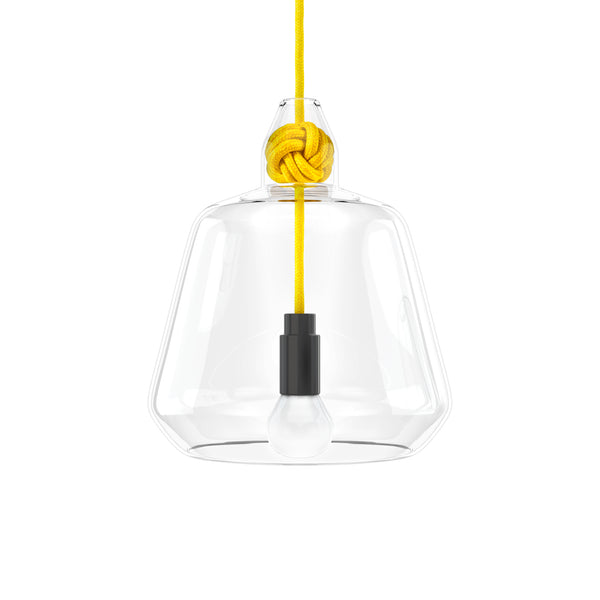 Vitamin Large Knot Pendant Lamp in yellow. Buy now from someday designs
