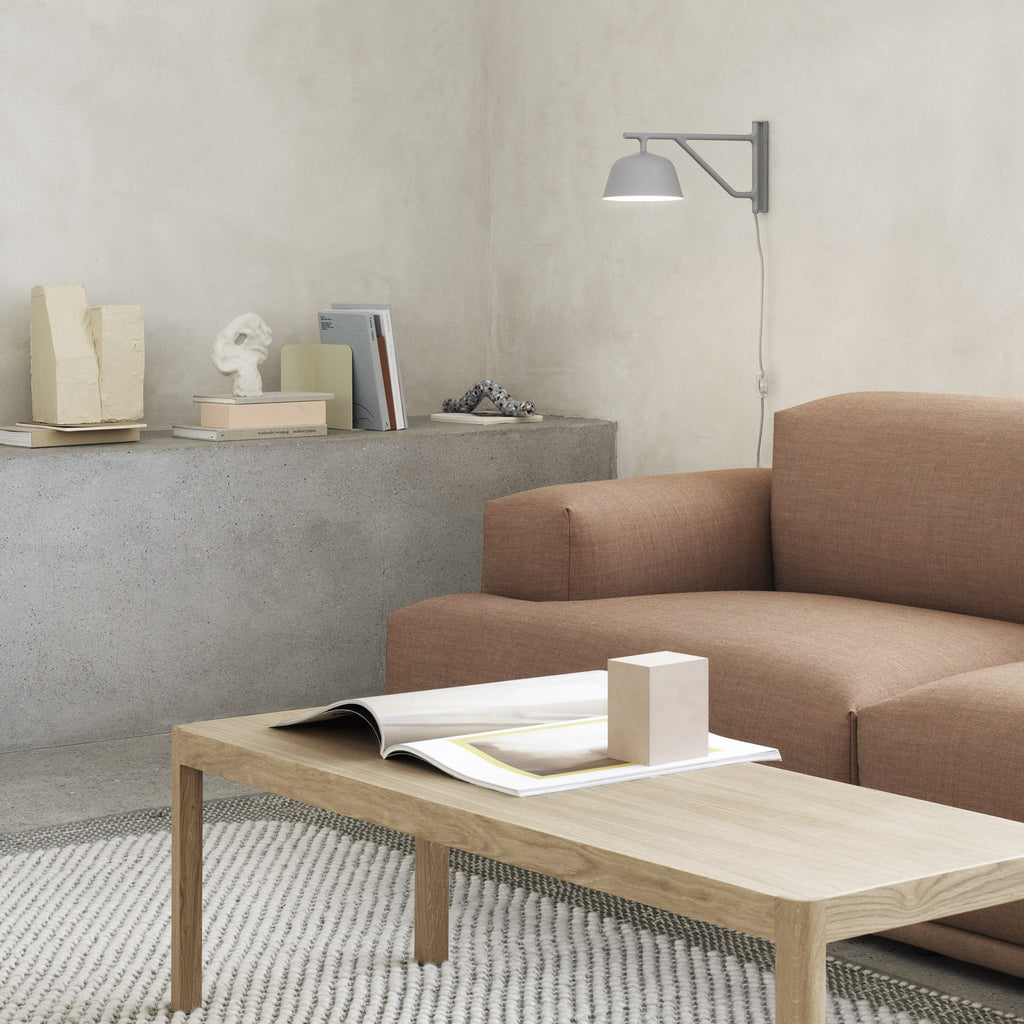 muuto ambit wall lamp in grey, available from someday designs