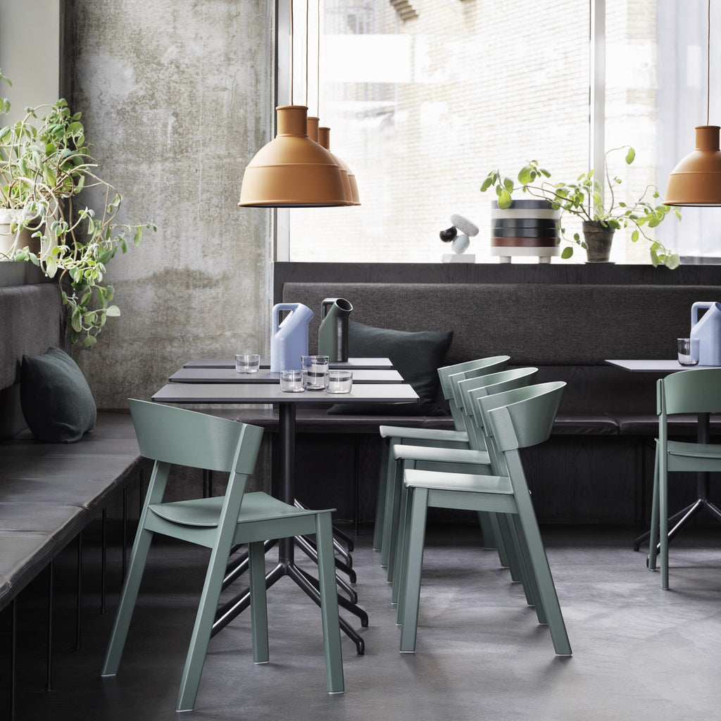 Muuto cover side chair in green, available from someday designs