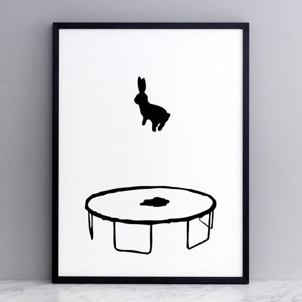 HAM Bouncing Rabbit Print with Nielsen black aluminium frame
