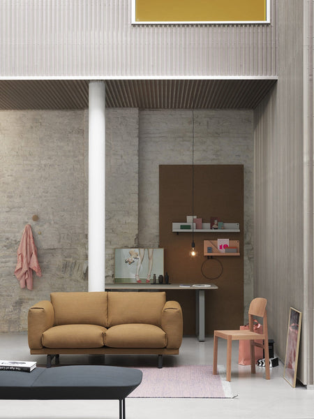 muuto folded shelves in living room setting with rest sofa available at someday designs