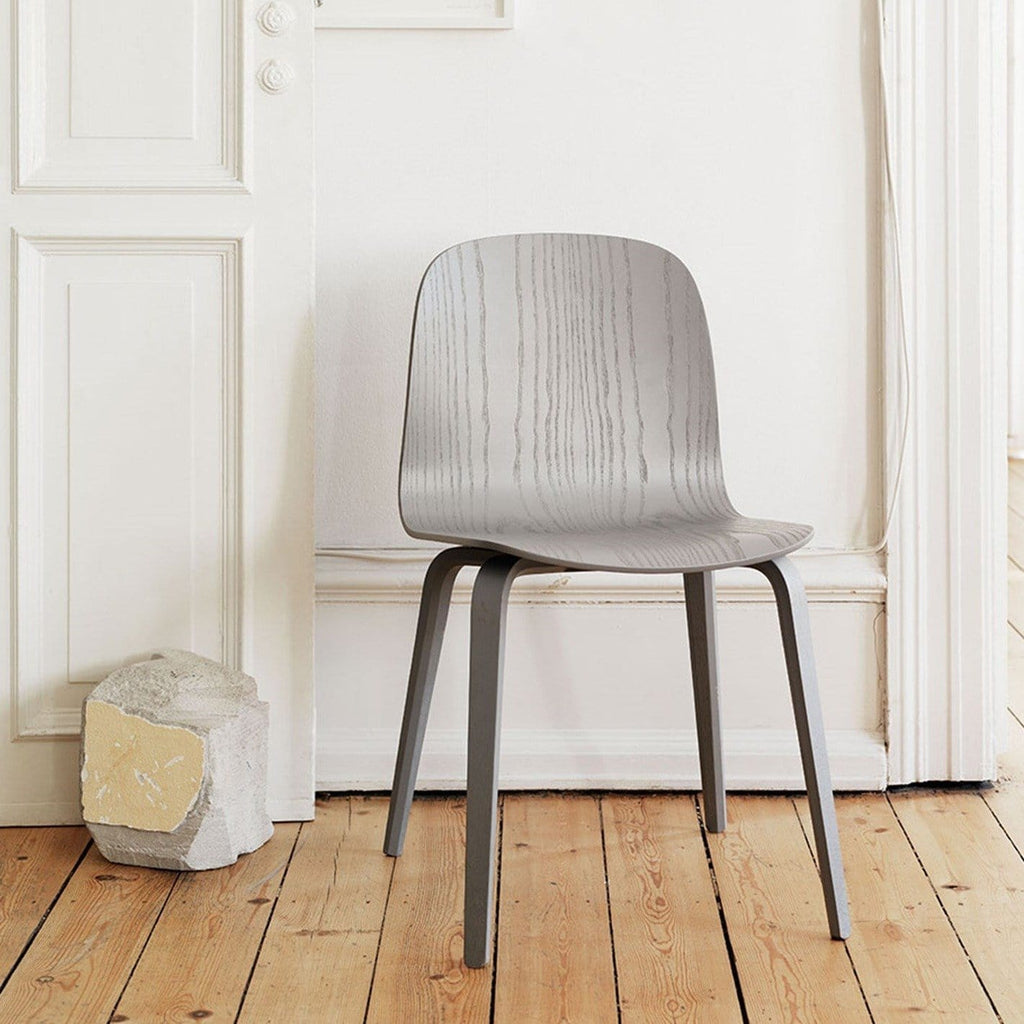 Muuto Visu Chair wood base in grey, available from someday designs
