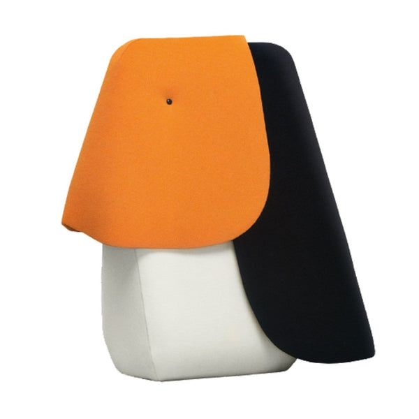 toucan large from the iconic zoo collection by designer Ionna Vautrin.  Colourful and playful cuddletoys available in an oversized version and mini teddy bear option.  Geometric shapes create a bold statement in a playroom or living room setting.