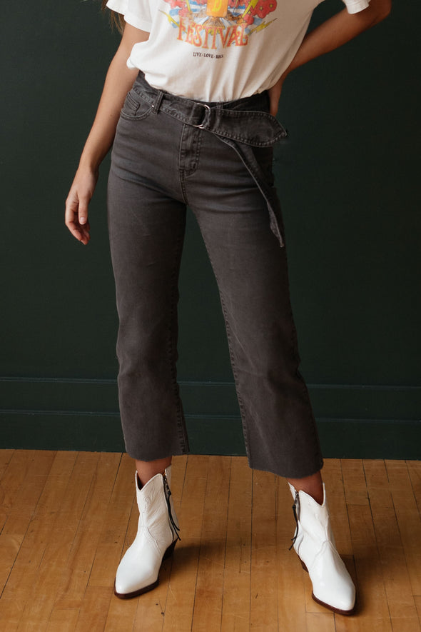 Lenox Crop Flare jeans - Robbie + Co.