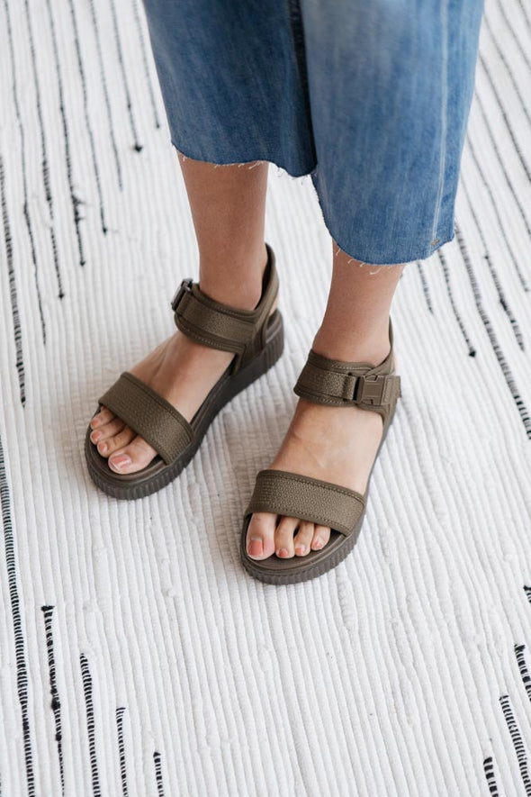 MIA Jacey Sandal in Khaki - Robbie + Co.