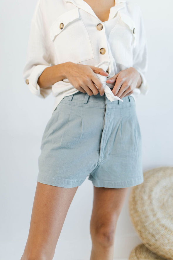 When I Met You In The Summer Shorts in Mint - Robbie + Co.
