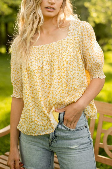 Sunrise Floral Blouse