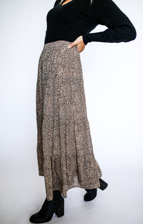 Wild One Leopard Skirt - Robbie + Co.