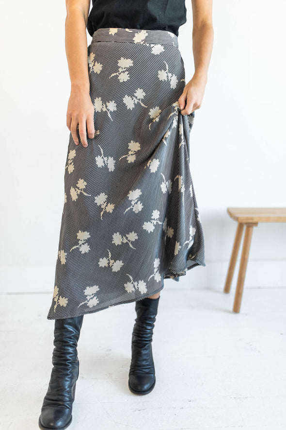 Bloom Baby Bloom Skirt in Black - Robbie + Co.