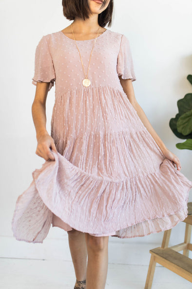 Living For This Dress in Pale Rose - Robbie + Co.
