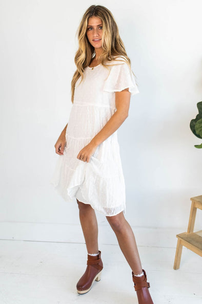 Living For This Dress in Ivory - Robbie + Co.
