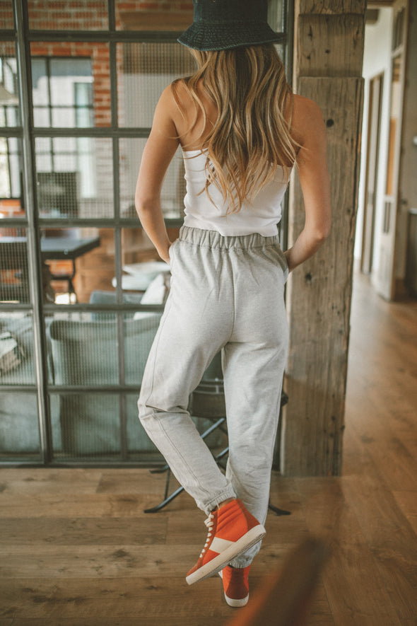 Heaven On Earth Joggers in Heather Grey