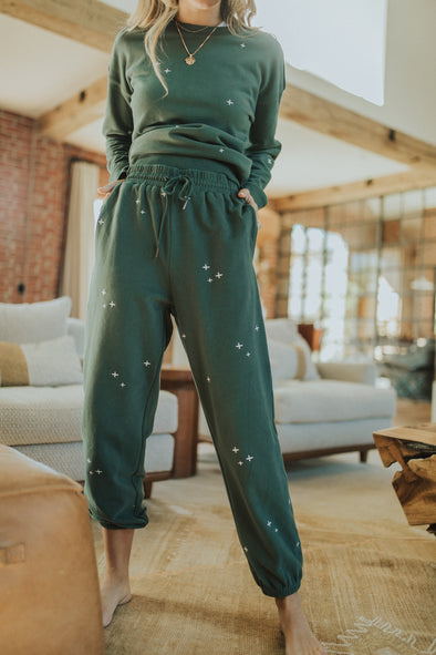 Needle and Pine Joggers in Vintage Teal
